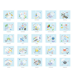 Technological detailed isometric vector