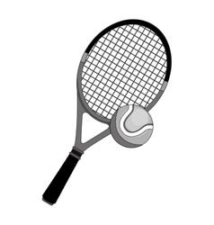 tennis racket equipment icon vector image