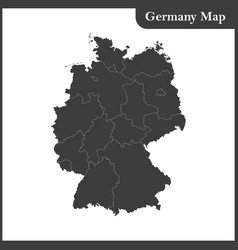 The detailed map of the germany with regions vector