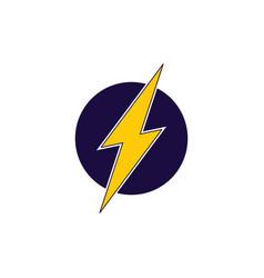 thunder flash symbol logo vector image