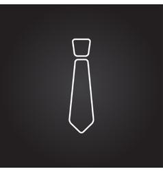 Tie icon vector