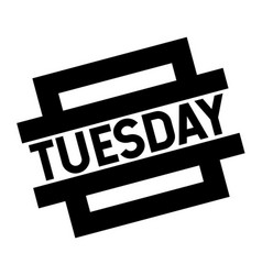 Tuesday black stamp vector