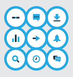 User icons colored set with comment forward vector
