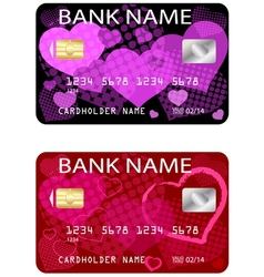 Valentine credit card vector