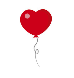 Valentines day heart balloon icon on white vector