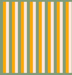 vertical stripes background green orange vector image