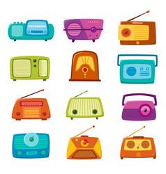 Vintage radio isolated on white background vector