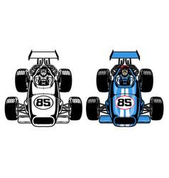 vintage retro formula race car vector image