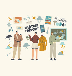 Weather forecast meteorological report concept vector