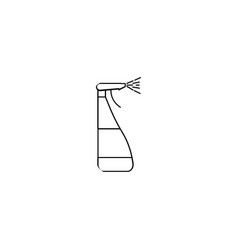 window cleaner spray icon vector image