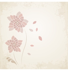 Abstract floral background in vintage style vector image