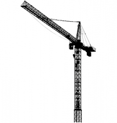 Tower crane vector
