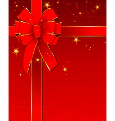 christmas design with bow vector image vector image