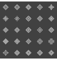 Geometric icons set vector image vector image