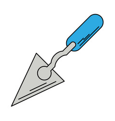 spatula construction tool icon vector image vector image