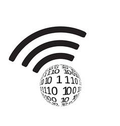 Wifi icon app vector image