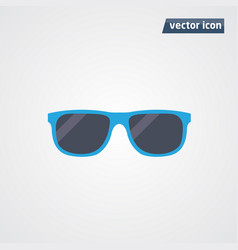 blue sunglasses vector image
