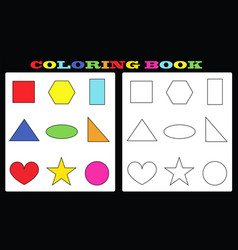 coloring book - painting book for kids vector image vector image