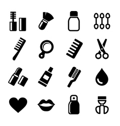 Cosmetics Perfume Icons Set vector image