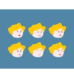 Emotions cupid baby Set expressions avatar kids vector image