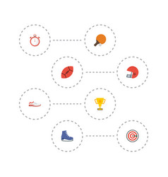 Flat icons table tennis shoes arrow and other vector