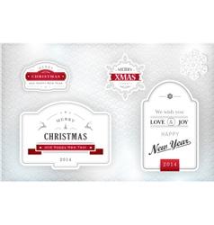 1311015 Elegant Christmas labels emblems vector image vector image