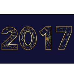 2017 year golden vector