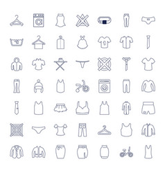 49 clothes icons vector