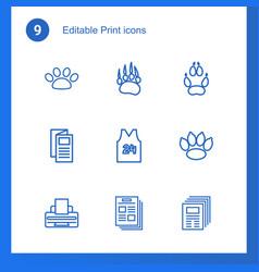9 print icons vector