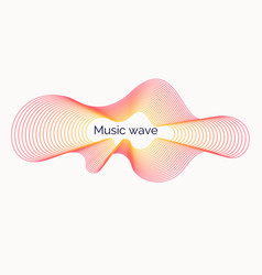 Abstract background with a dynamic music waves vector