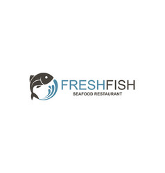 Abstract fish icon vector