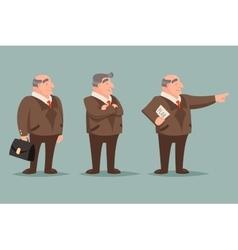 Adult demonstration businessman big boss character vector