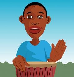 African drummer vector