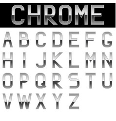Alphabet chrome letters vector