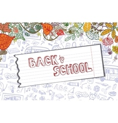 Back to School Supplies SketchyLieavespaper vector