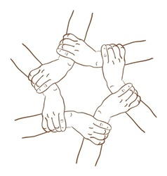 Background of hands vector
