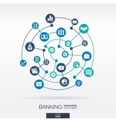 Banking network circles abstract background vector