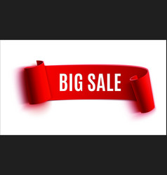 big sale red banner vector image