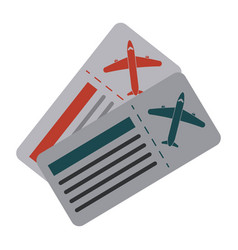 boarding passes icon image vector image