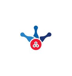 bowling logo design element symbol vector image