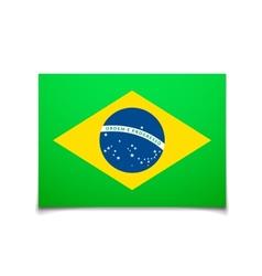 brazil flag isolated on white vector image