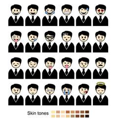 business faces set vector image