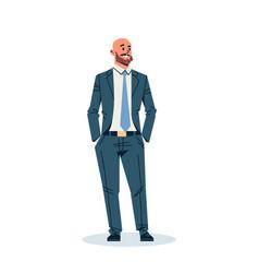Businessman holding hands pocket business man vector