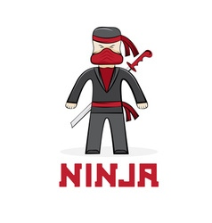 cartoon young ninja vector image