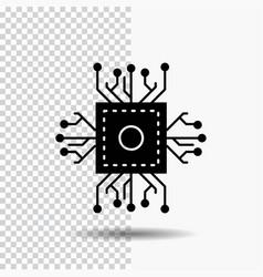 Chip cpu microchip processor technology glyph vector