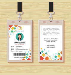 Creative id card design template vector