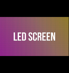 creative of led screen macro vector image