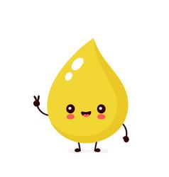 Cute happy smiling urine drop character vector