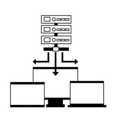 database server computer monitor laptop vector image