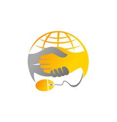 deal online logo design template vector image